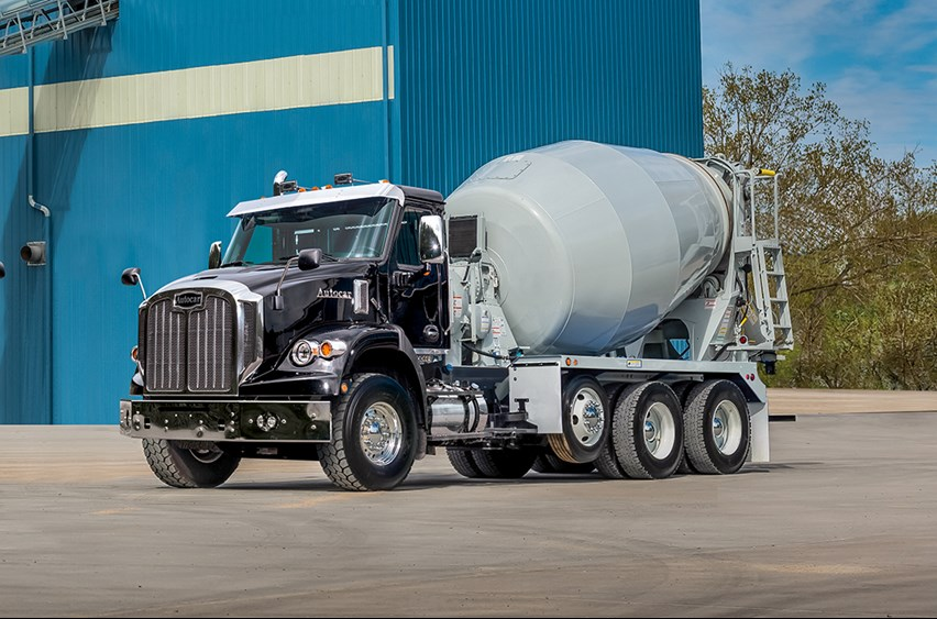 The Autocar DC-64M Concrete Mixer Truck